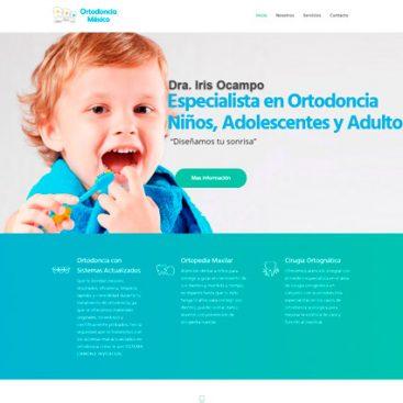 pagina web muestra